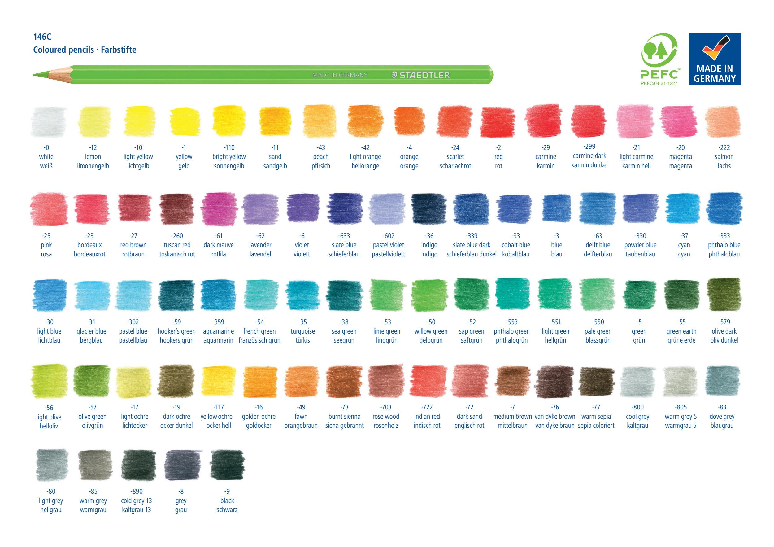 146 油性色鉛筆 単色と48色/72色セット 新発売